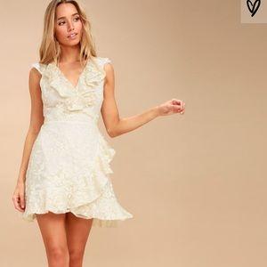 BB Dakota ruffled white dress